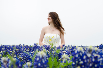 bluebonnets bride texan texas flower laura ackley bridal